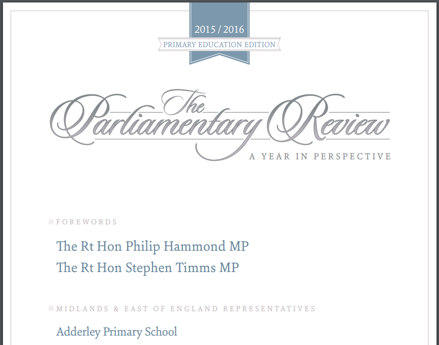 PARLIAMENTARY RECOGNITION